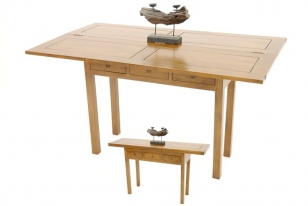 Table console Hévéa 140